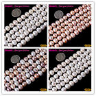 Round 9-10mm  White Pink Multi-color Freshwater Pearl Jewelry Making Beads 15""