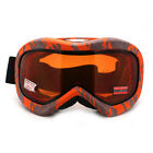 Ski Snowboard Goggles Anti Fog Shatter Proof Brown Lens Camo Print
