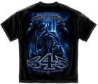 New Black T-Shirt with 343 Fallen Brothers 9/11 Memorial Firefighter Design