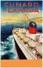 TX350 Vintage Cunard To Canada Cruise Ship Liner Travel Poster Re-Print A2/A3/A4