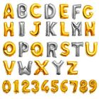 Foil Balloons Decor Letter A-Z Number 0-9 Silver&Gold For Celebration Party