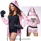 C950FW Knockout Robes Sports Boxing Boxer Babe Fancy Dress Up Costume + Gloves