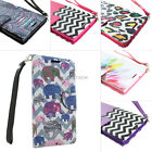 For ZTE ZMax Z970 T-Mobile Design Hybrid PU Leather Wallet Flip Pouch Case Stand