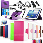 Accessories Bundle For Samsung Galaxy Tab 3 10.1'' Tablet PU Leather Case Cover