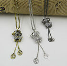 New Arrival Cute Crystal Sheep Pendant Coin Tassels Sweater Necklace AMYL1041