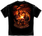 New Black T-Shirt with Fear No Evil Dragon Firefighter Design