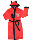 Boys Man United  Fred The Red Mascot  Hooded Dressing Gown House Coat Robe 3-9 y
