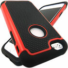 Heavy Duty Hybrid Polka Dot Shockproof Rugged Rubber Hard Case for iPhone 6 Plus