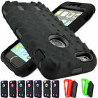 Hybrid Rugged Impact Hard Rubber Case Cover For Apple iPhone 6 Plus 5.5