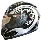 LEO-818 Full Face Motorcycle Motorbike Helmet BLK Graphic ECE 22-05 Approved New