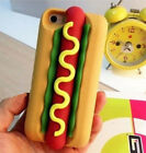 Cute cartoon hot dog Soft Silicone Case Cover back case For iphone 5/5s/4/4S