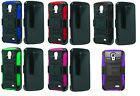 Holster + Hybrid Case Phone Cover for Straight Talk LG Access LTE L31G L31L L31C