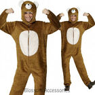 CL235 Unisex Adult Bear Animal Jumpsuit w/ Hood Funny Outfit Fancy Dress Costume