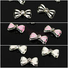 10pcs 3D Alloy Bow Tie Rhinestone Nail Art Phone Metal Glitter Slices Decoration