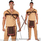 CL240 Native American Brave Warrior Indian Halloween Fancy Dress Mens Costume