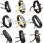 Unisex Vintage Multilayer Bangle Leather Cross Wristband Bracelet Cuff Punk