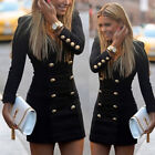 Women Wear Work Casual Long sleeves Cocktail Party Mini Short Bodycon Dress S-XL
