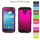 For Samsung Galaxy S4 Mini Rosy Pink Hard+Rubber Hybrid Rugged Impact Phone Case