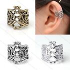 Men Women's Vintage Punk Hollow Out Pattern Ear Cuff Clip Earring Rock Gothic