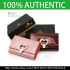 [OMNIA]Crystal Korean Ladies Genuine Leather Key Holder Wallet 380D Heart Buckle