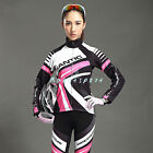 2015 New Women Winter Cycling Bicycle Long Sleeves Jersey&4D Padded Pants Set