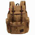 Vintage Canvas Belt Buckle Computer Bags men Women Casual Large Travel Backpack