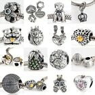 Fashion 925 Sterling Silver Dangle Charm Pendant Bracelet Accessory Bead Parts