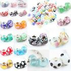 Wholesale Lampwork Glass Floral Flower Polka Dot Loose Beads Fit Charms Bracelet