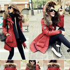 NEW Luxurious Women Trendy Winter Warm Thick Real Fur Good Real Down Parka Coat
