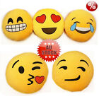 Emoji Emoticon Yellow Round Cushion Stuffed Pillow Plush Soft Toy Decor