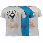 Mens T Shirt Top South Shore Crew Neck Short Sleeved Fashion Summer Casual New