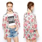 NEW Vintage Women Batwing Sleeve Floral Flower Kimono Cardigan Shirt Blouse Top