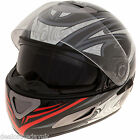 Full Face Motorcycle Crash Helmet Black Motorbike Scooter Mens Ladies S M L XL