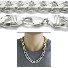 925 Sterling Silver Cuban Curb Chain Necklace 13mm 350