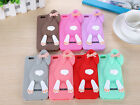 """2015 New 3D Cute Rabbit Soft Silicone Back Case Cover for iPhone 6 Plus 5.5"""" G"""