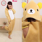 NEW KIGURUMI Unisex Animal ONESIES Happy Bear Cosplay Costume Pyjamas Hoodies