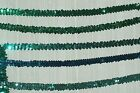 "Stretch Sequins 3/4""-2 Row in Green Emerald, Emerald Hologram,Teal,Jade or Aqua"