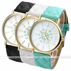 1pc Golden Numeral Round Case Quartz Analog Watch Snowflake Print Fashion Style