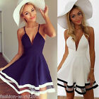 New Women Sundress Summer Beach Strap Sleeveless Party Cocktail Short Mini Dress