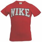 Nike Mens Boys Red Cotton Short SleevesT-Shirts (429671 648 U12)