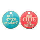 """Personalised Engraved """"AM I CUTE OR WHAT?"""" 27mm Pet Tag-Pink/Blue-Free Engraving"""