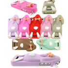 New Fashion 3D Cute Lovely Rabbit Pattern Case Cover for Apple iPhone 4 4S G