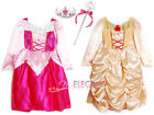 Disney Aurora Belle Princesse Filles Robe Jupe Enfants Costume Dress 3-9 Bandeau