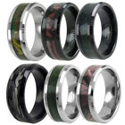 Tungsten Men's Forest Camouflage Camo Hunting Band Ring Size 8-15 (Choose Color)