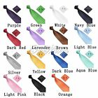 2015 Men's Silk Tie Hanky Cufflinks Sets Groom Neckwear Party Tie Plain Tie gift