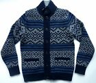 GAP Men's Knitted LAMBSWOOL Winter NAVY BLUE Stripe Cardigan Jumper Top £79.95