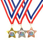 45mm Metal Ice Hockey Star Medal-Gold,Silver or Bronze-FREE POSTAGE-FREE ENGRAVI