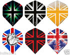 5 SETS OF RUTHLESS RX4 DARTS 15 FLIGHTS UNION JACK STYLE 6 DESIGNS EXTRA STRONG