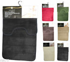Luxury Memory Foam Bath Mat & Pedestal Set, Super Soft Non Slip Mat, 2 Piece Set