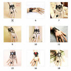 Hot Fashion Women Lady's Hand Bracelets Lace Wrist Chain Bangle Finger Ring Gift